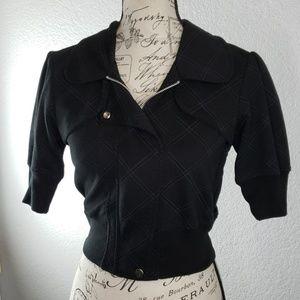 Miss Chievous black zip large short sleeve